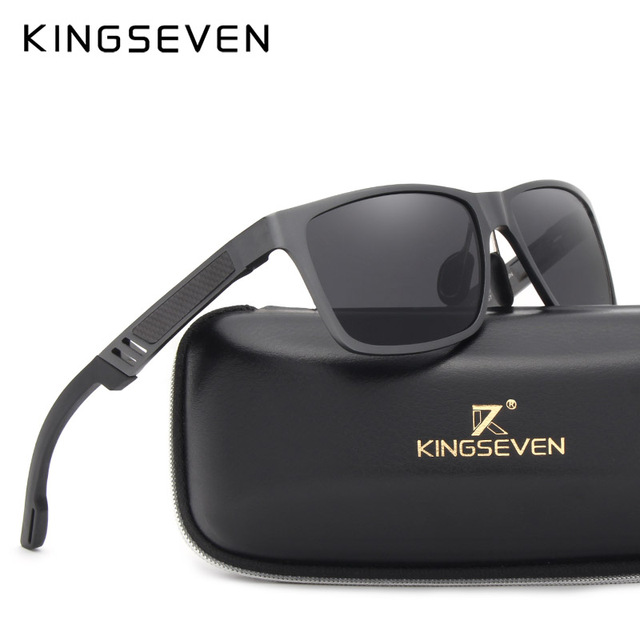 KINGSEVEN 2018 Original HD Polarized Sunglasses Brand Aluminum Magnesium Mirror Men Sport Driving Glasses Goggles Oculos De Sol 2