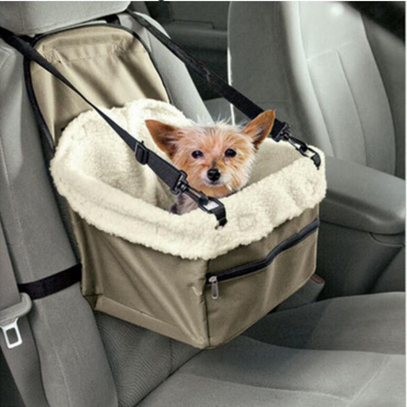 2018 Pet Products Retro dog Car Travel Accessories Pet Booster Seat Basket Dog Carrier Outdoor Car Seat Pet Protector