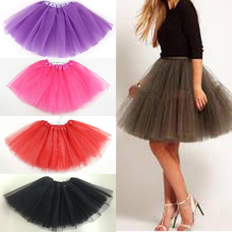 Adult Women Skirts  Tutu Layered Organza Lace Club Wear Princess Petti Skirt Up Costume Party Skirt