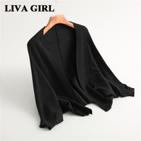 Liva Girl Women S Autumn And Winter Warm Short Cardigan Sweater Computer Knitted Long Sleeves Solid