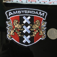 PGY AMSTERDAM Iron On Patch Embroidered Applique Sewing Badge Clothes Stickers Garment DIY Football Club Apparel Accessories