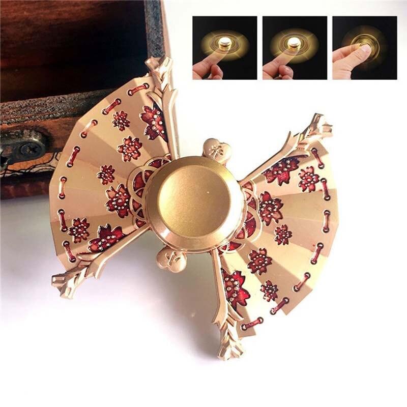 Ручной Spinner Маленький Джо вентилятор золотая голова цинковый сплав металлов поворотный EDC Spinner Для аутизма и СДВГ фокус стресс пальца гироск... ...