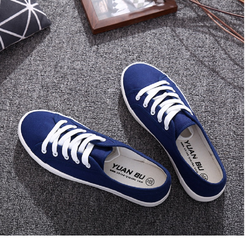 2018 Women Canvas Shoes New Female Spring And Summer Solid Breathable Casual Loafers Lace-up Ladies Fashion Flats Shoes DLD901 renben women canvas shoes 2017 fashion flats women casual white shoes breathable canvas lace up candy colors shoes 6e06