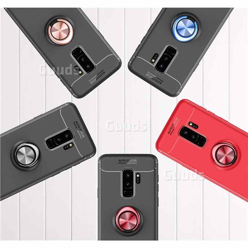 Guuds for Samsung Galaxy S9 s9Plus s8 s7edge note8 Note9 A6 j2prime Auto  Focus Invisible Ring Holder Soft Phone Case S9 Plus S9+