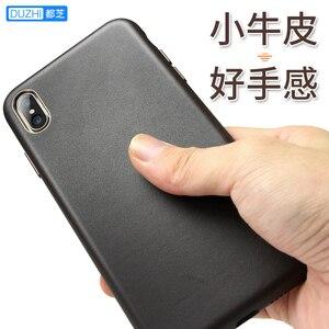 Image 2 - Pour iphone XS XS Max bovin étui en cuir 100% Original Duzhi marque pleine protection en cuir véritable étui pour iphone 7 7 plus 8 8plus