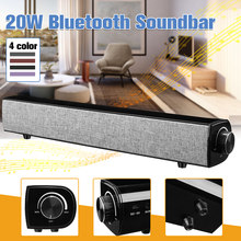 21da6f69275 20W HIFI Wireless Bluetooth Speaker Soundbar Portable Dual 10W 3D Stereo  Bass Subwoofer USB AUX for Home TV Theater Computer
