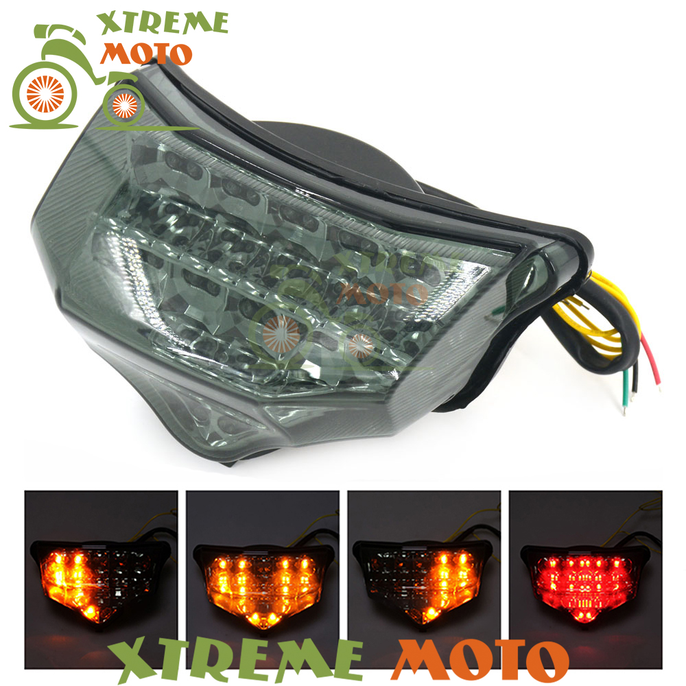 Motorcycle LED Rear Turn Signal Tail Stop Light font b Lamps b font Integrated For Yamaha