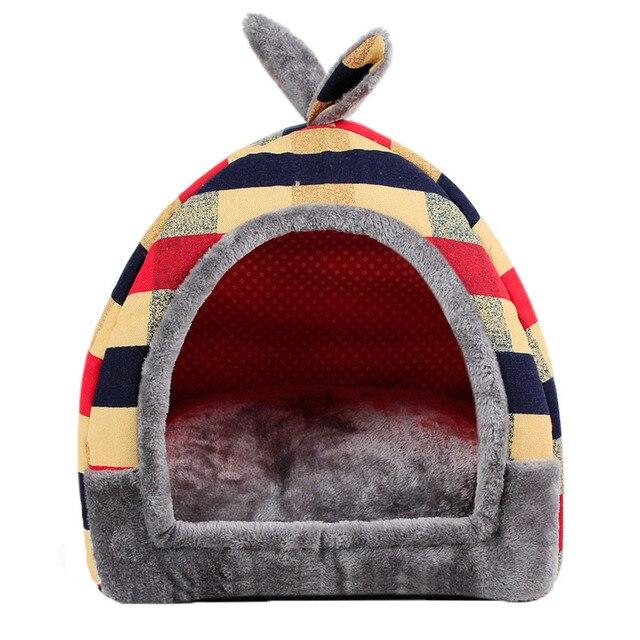 Pawstrip Bandiera Modello di Piccola Casa Del Cane di Inverno del Gatto Caldo Letto Pieghevole Cucciolo di Cane Letto Per Chihuahua S/M/ L