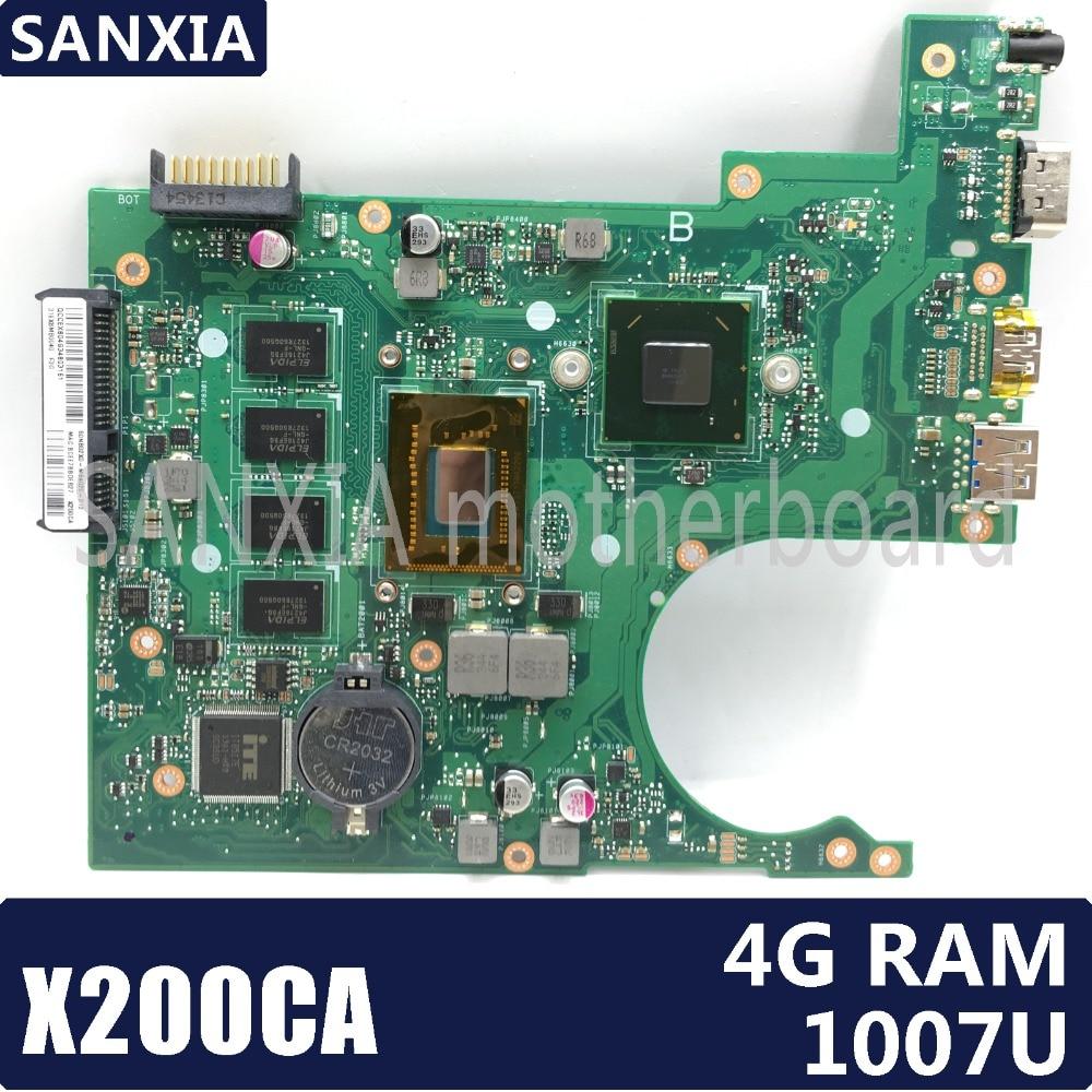 KEFU X200CA Laptop motherboard for ASUS X200CA X200C Test original mainboard 4G RAM 1007 CPU HD Graphics card for asus x200ca laptop motherboard with 2117u ram 4gb rev2 1 main board 60nb02x0 mb4020 100% working