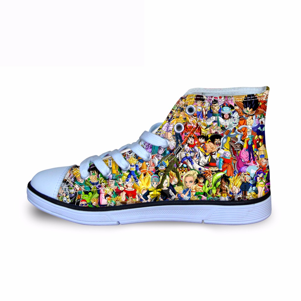 HYCOOL Kids Shoes for Girls Boys Sneakers Boots Dragon Ball Z Canvas Children Shoes Running Sport Baby Sneakers Shoes Anime 2018