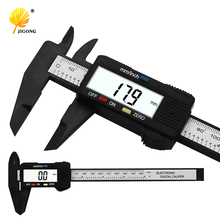 JIGONG 150mm 6'inch LCD Digital Electronic Carbon Fiber Vernier Caliper Gauge Micrometer free shipping Measuring Tool