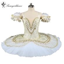 panas jualan putri emas puteri florina putih angsa profesional romonda tutu pancake nutcracker balet tutu peringkat pakaianBT9143A