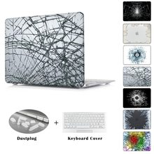 Cool sizzling sale Damaged glass rupture burst Case for Apple macbook Air Professional Retina 11 12 13 15 laptop computer bag For Mac e book 13.three inch