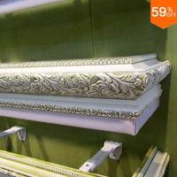 Luxury Curtain Upper Box Carving Synthetic Wood Euro Carve Design Drawing On The Box For Curtain