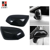 ZXMT 2Pcs Carbon Fiber ABS Side Door Rearview Mirror Cover Trim FOR TOYOTA CAMRY 2018