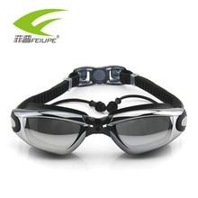 Professional Swimming Myopia Goggles Anti-Fog UV Adjustable Plating Men Women Waterproof silicone glasses adult Eyewear