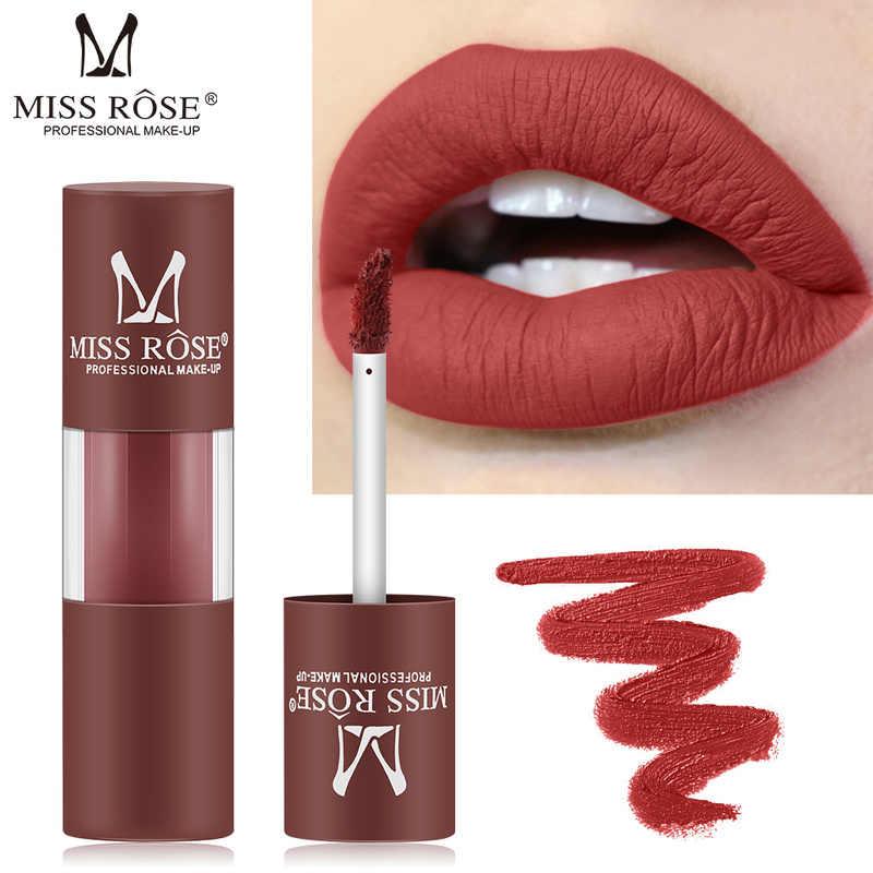 MISS ROSE Glitter Shimmer Vermelho Brilhante Lip Gloss Batom de Longa Duração À Prova D' Água Cores Compõem Metálico Líquido Batons TSLM2 12