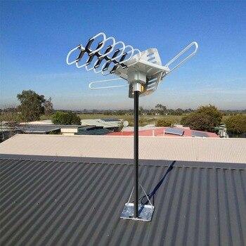 Бесплатная HD ТВ 1080 P 150 миль открытый ТВ антенны моторизованный усиленный устройства 36dBi высокий коэффициент усиления УКВ FM антенна усилител...