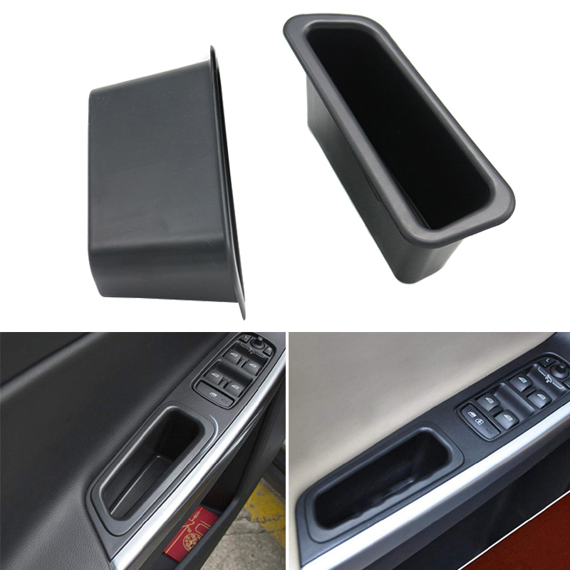 Interior Door Cover Armrest Trim Storage Box Container For Volvo XC60 2009-2016