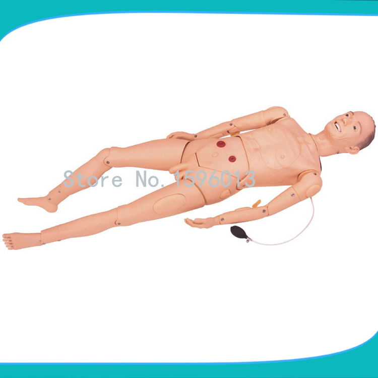 Advanced Male Elderly Nursing Manikin,Elderly Nursing Dummy with Trauma Care and BP Measurement economic basic patient care manikin female nursing manikin nursing mannequin