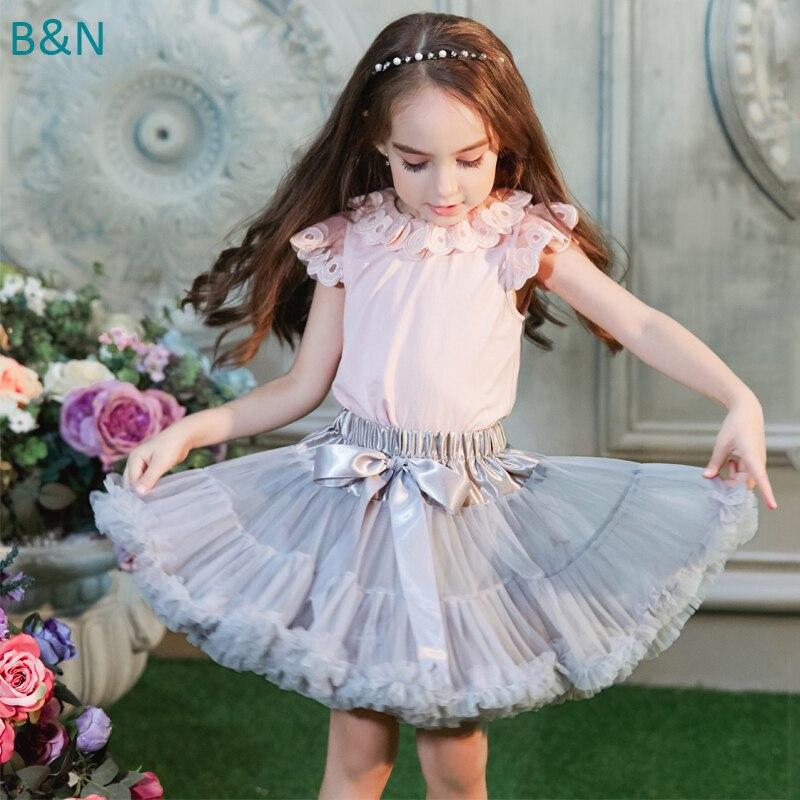 Buenos Ninos 21 Színek Baba és Gyermek Lány Bolyhos Chiffon Tutu Pettiskirt Dance Szoknyák