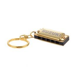 Suzuki Harmonica Mini 5 отверстий 10 тон брелок гармоника Ключ C золотой