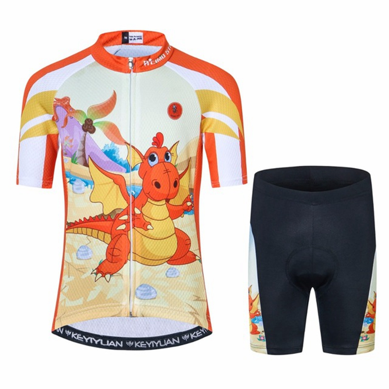 2018 Kids Cycling Clothing Children Bike Jersey Shorts sets Bicycle Top Maillot Ropa Ciclismo Boy mtb Shirts Suit Orange S-XXL children s bicycle kids balance bike ride on toys for kids four wheels child bicycle carbon steel bike for children 1 2 years