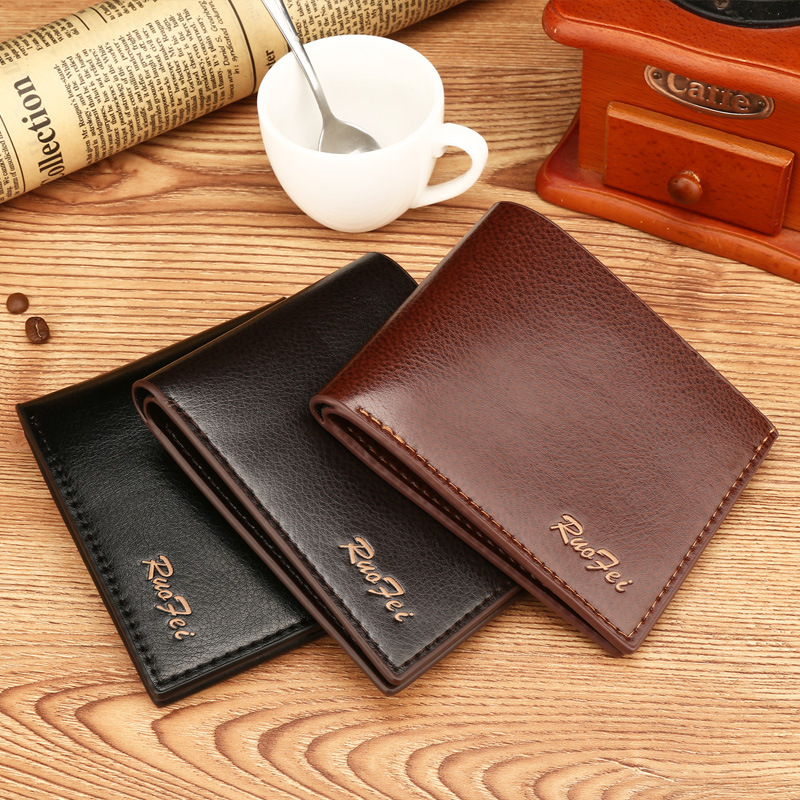 2017 Business Wallet Men PU Leather Mens Wallet Small Thin Purse Short Male Clutch Brand Money Bag High Quality Card Holder