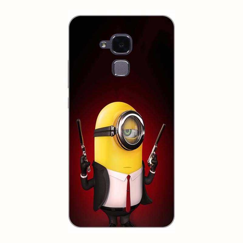 """Чехлы для телефонов Huawei Honor 7 Lite/GT3/GR5 Mini/Honor 5C 5,2 """"чехол с принтом чехол с рисунком розы волка задняя крышка чехол Fundas Para"""
