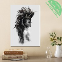 1 Piece Woman in sketch Girl HD Printed Canvas Wall Art Posters and Prints Poster Painting Framed Artwork Room Decoration