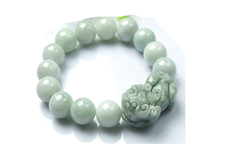 Koraba Fine Jewelry 100% чистый натуральный жадеит Ercy резной Безопасный и злых духов храбрый войска браслета