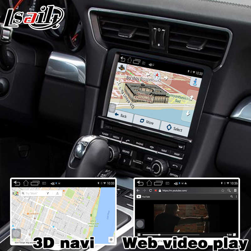 Android 6 0 GPS navigation box for Porsche 911 PCM 3 1 4 0 video interface  box with carplay google play youtube rear view