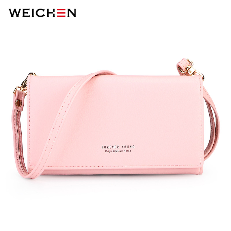 WEICHEN New Mini Women Crossbody Bag Brand Leather Messenger Bags Handbag Clutch Purses Clutch Wristlet Bolsas Long Wallets women genuine leather character embossed day clutches wristlet long wallets chains hand bag female shoulder clutch crossbody bag