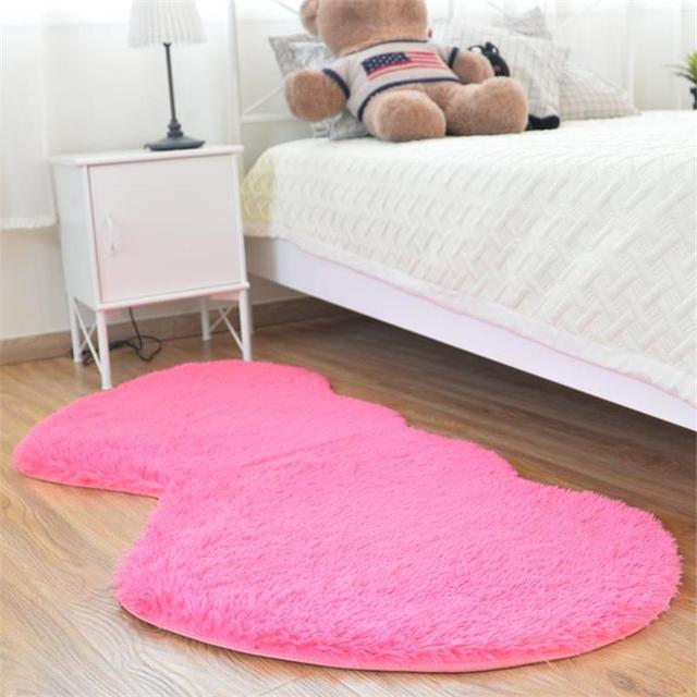 Ordinaire 80X160CM Double Heart Bedroom Rugs And Carpets Wedding Home Decoration Area  Rugs 4.5CM Fur Cute