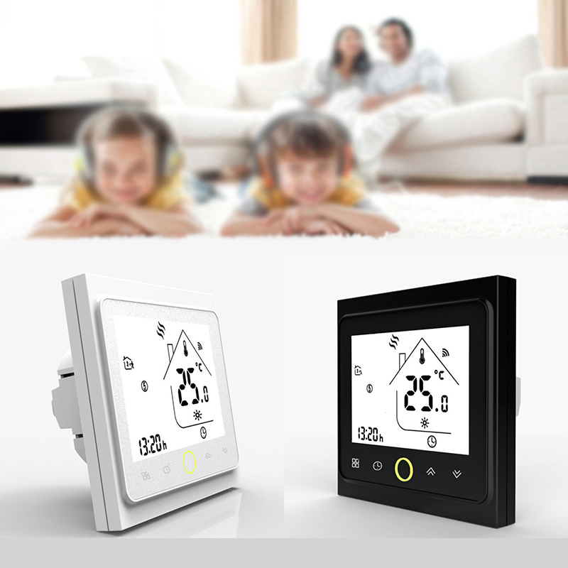 New Touch Screen Room Thermostat LCD Temperature Monitor Air Conditioner Controller With Operation Manual