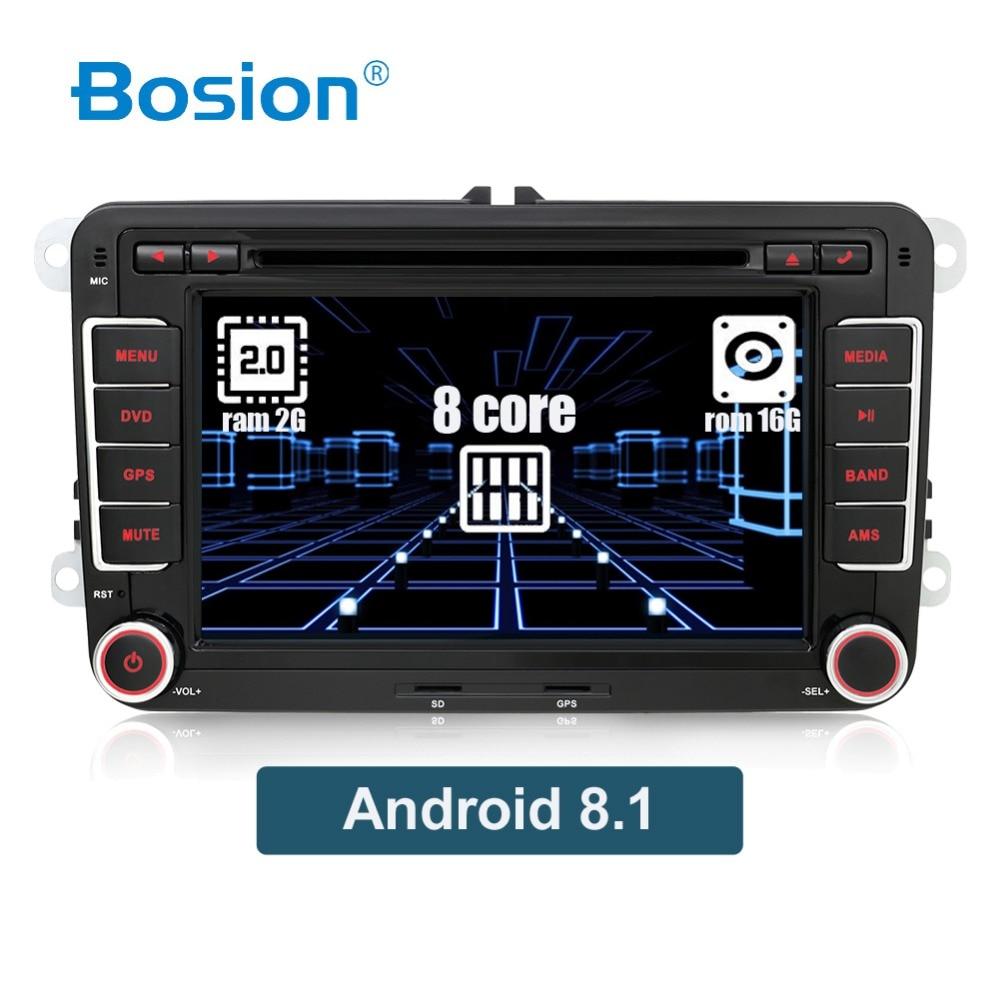 OCTA CORE Android 8.1 2 Din DVD de voiture pour Volkswagen Golf/Tiguan/Skoda/Fabia/Rapid/Seat/Leon wifi BT RDS DAB + 3/4G navigation GPS