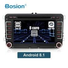 OCTA CORE Android 8.1 2 Din CAR DVD Per Volkswagen Golf/Tiguan/Skoda/Fabia/Rapid/ sedile/Leon wifi BT RDS DAB + 3/4G di navigazione GPS