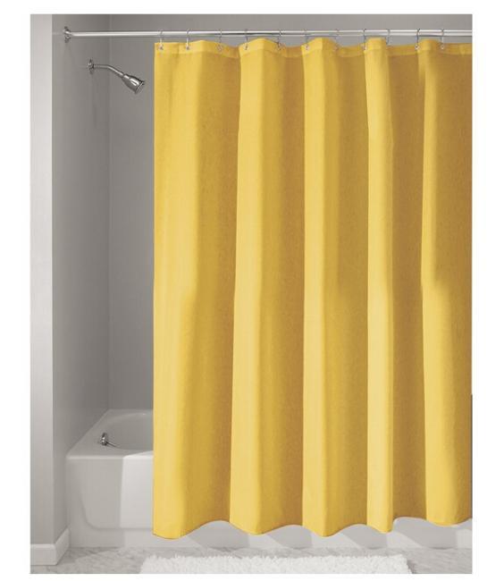Custom Home Decor Solid Yellow Fabric Moden Shower Curtain bathroom Waterproof 66x72 Free Shipping