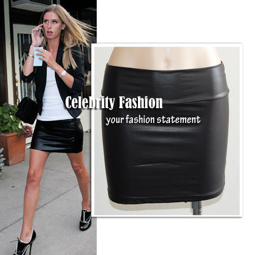 Celebrities Leather Skirt Promotion-Shop for Promotional ...