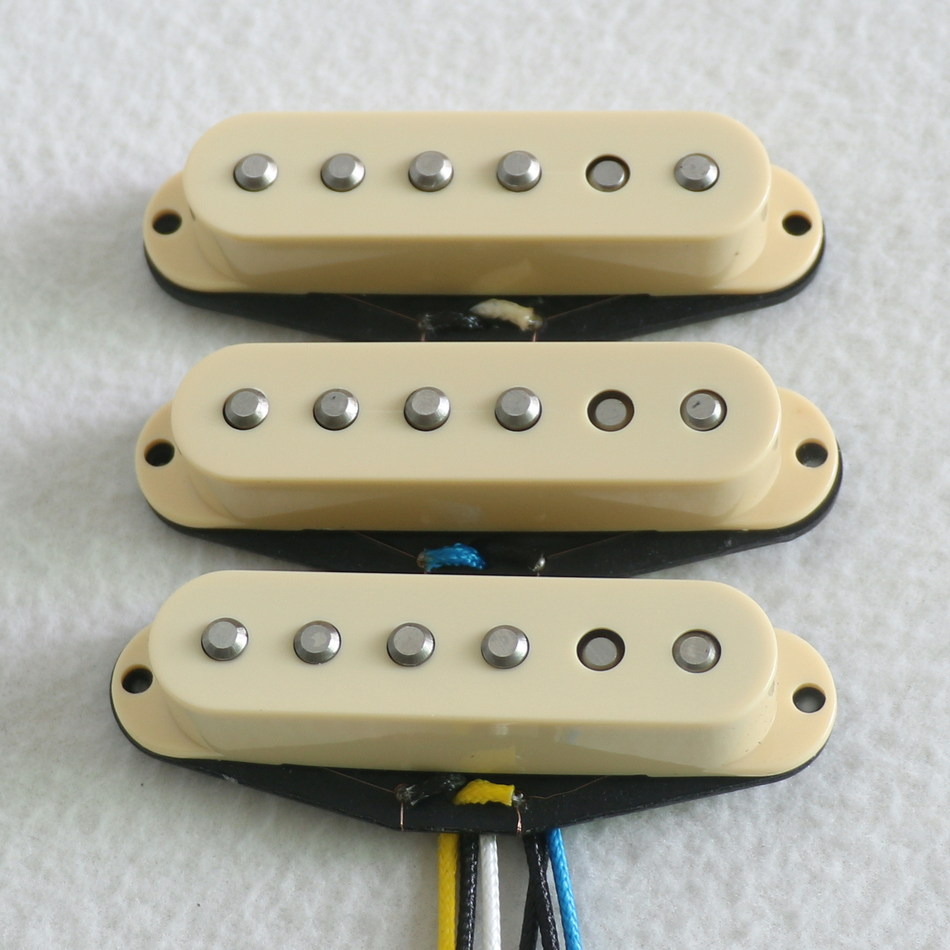 Free Shipping High Output Vintage 60's Style Alnico V Rod Staggered Single Coil Guitar Pickup With Demo
