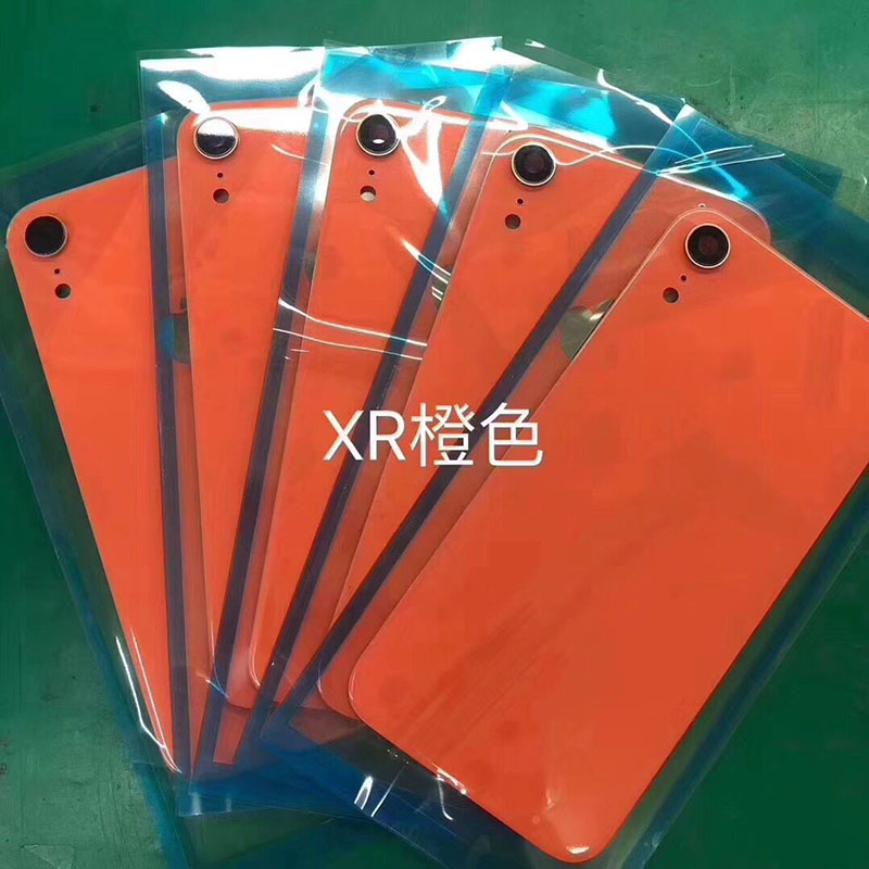 Cover Housing-Case iPhone Camera Glass Back-Battery Door 10pcs for XR Rear Repair-Part