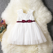 Infant White Dress For Baptism Christening Gown Newborn 1st Birthday Baby Girl Outfits Toddler Girl Tulle Party Dresses Clothes