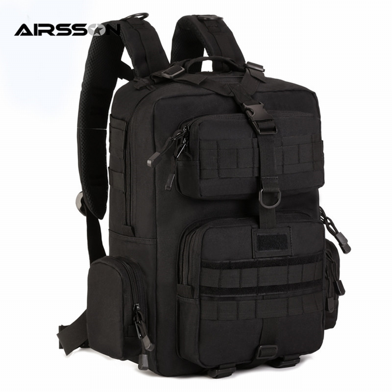 Airsson 30L Military Tactical MOLLE Backpack Heavy Duty Adjustable Rucksack Breathable Pad Outdoor Camping Hiking Shoulder Bag 65l outdoor sports multifunctional heavy duty backpack military hiking