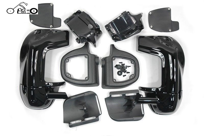 Motorcycle Parts Black Lower Vented Fairing for Harley HD Road King Street Electra Glide FLT FLHT FLHTCU FLHRC Touring 1983-2015