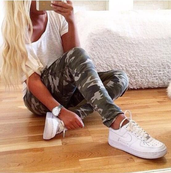 New 2017 Summer Fashion Women Pants Female Casual Military Tight Elastic High Waist Camo ...