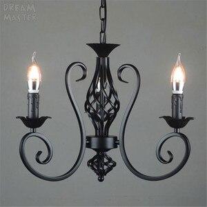 Image 3 - Zwarte Vintage Industriële Hanglamp Nordic Retro Lichten Ijzer Loft Opknoping Lamp Keuken Eetkamer Platteland Home Verlichting