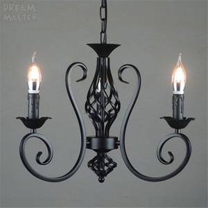 Image 3 - black vintage industrial pendant light nordic retro lights iron loft hanging lamp kitchen dining room Countryside home lighting