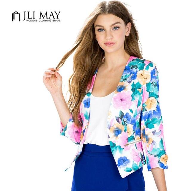 4e998f48dda7c JLI PUEDE oficina mujer trajes slim fit chaqueta corta femme ladies womens  blazers primavera 2016 chaquetas