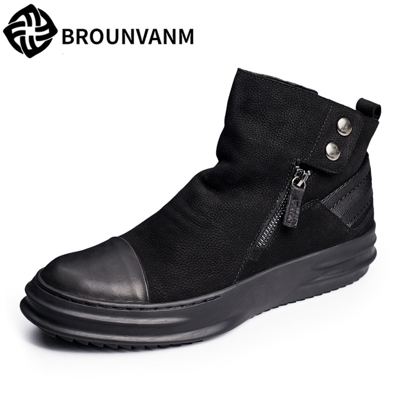 2017 new men leather boots Martin men's winter autumn British retro men shoes zipper leather boots breathable sneaker 2017 new autumn winter british retro men shoes zipper leather shoes breathable sneaker fashion boots men casual shoes