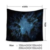 Forest stars hanging wall decoration blanket tapestry background cloth tablecloth partition curtain blanket throw